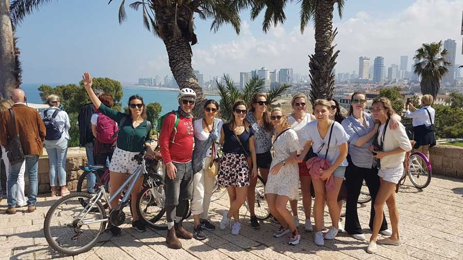 Dutch Group cycling with me in Jaffa